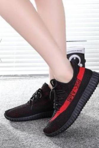 Black& Red The new spring 2017 men's shoes, leisure sports shoes big talker and coconut yeezy350V2 fashion shoes running shoes,Casual Shoes,Running Shoes,Fitting Shoes,Breathe Shoes